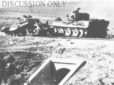Tiger 231 and a Valentine tank