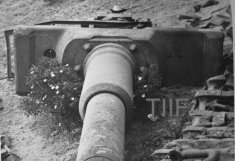 Mantlet of a wrecked Tiger gun
