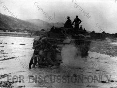 Operation Eilbote : Pz.3 and motorbike in Oued Maarouf