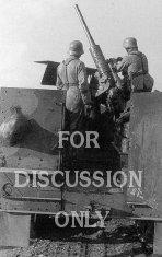 Captured M3 halftrack with 37mm AA