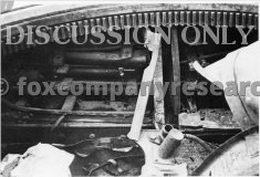 Ammunition racks in the wrecked Tiger 823