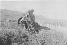 Pz.4 on its side at Hunt's Gap