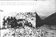 Ruined fort at the Karachoum Gap