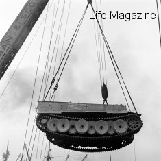 Tiger 712 is lifted from a ship