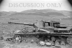 Wrecked Pz.4 in Hunt's Gap