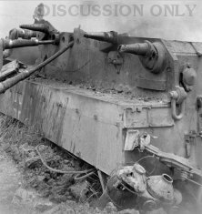 Wreckage of Tiger 142