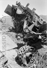 Wrecked M3 SP gun