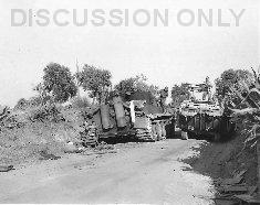 Thumbnail image: DUKW and Tiger at Biazzo Ridge