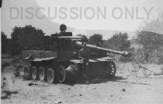 Thumbnail image: Tiger wreck on Biazzo Ridge