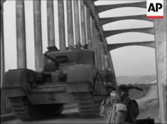 Churchill tank crossing Oued Beja