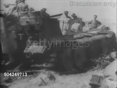Wrecked hull of Tiger 121