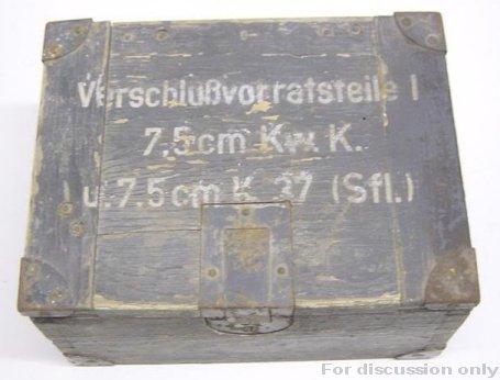 Spares box for Panther gun