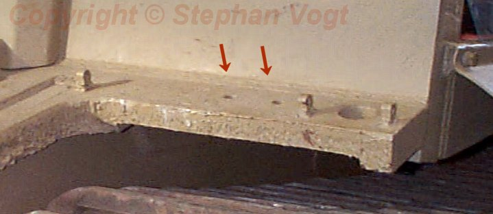 Holes in original glacis plate