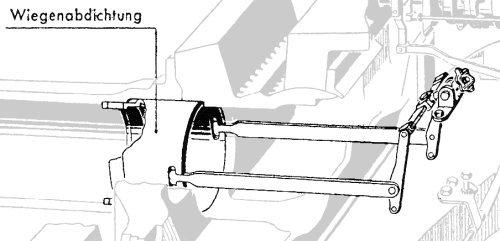 Tiger E ; gun tube seal sketch