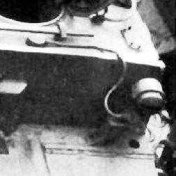 Headlight holder on glacis plate