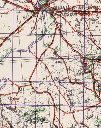 from Medjez el Bab map, War Office, 1942