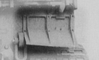 Narrow rear mudguard