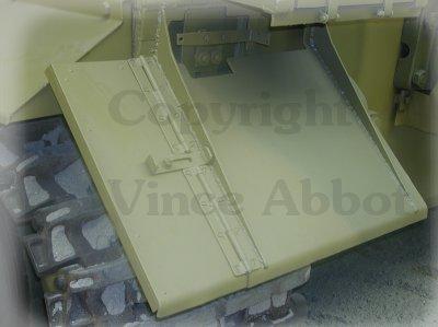 Wide rear mudguard