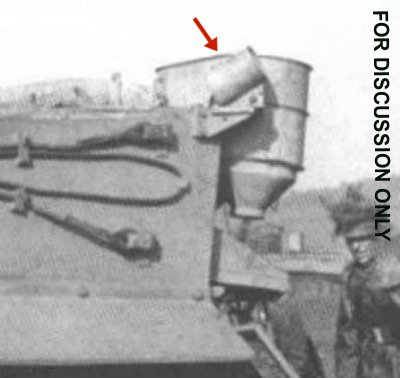 S-mine launcher at rear of hull