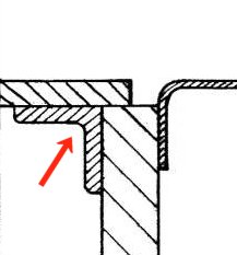 Profile of flange and joint