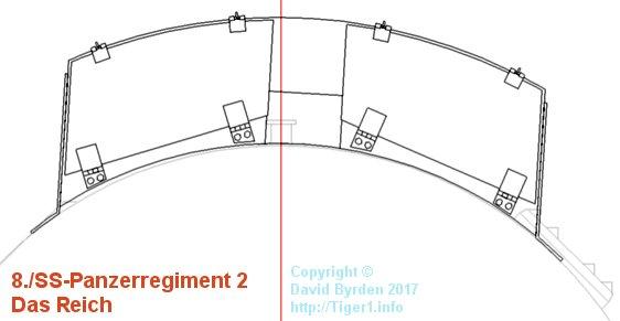 1.4 meter turret bin on DR Tiger, plan view