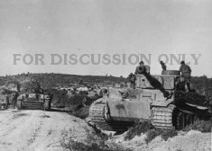 Operation Eilbote : Tiger 121 crosses a stream