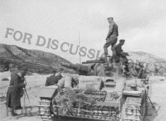"Thumbnail image: Operation Eilbote : Pz.3 ""07"" of Kampfgruppe Lüder"