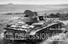 """Pz.3 """"832"""" wrecked at Hunt's Gap"""