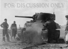 Operation Frühlingswind : Sherman knocked out