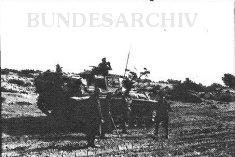 Thumbnail image: Soldiers and a Pz.3 at the Karachoum Gap