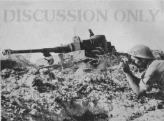 British soldier and Tiger 131