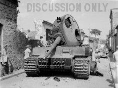 Wrecked Tiger in Via IV Traversa