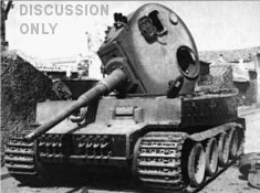 Wrecked Tiger in Belpasso
