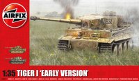 The box-art for the 'Tiger 1 Early Version' from Airfix