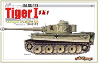 The box-art for the 'Tiger 1 Tunisia 1942/43' from Cyber Hobby