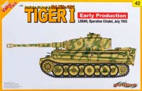 The box-art for the 'Tiger I Early Production, LSSAH' from Cyber Hobby