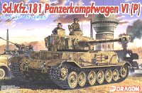 The box-art of the 'Sd.Kfz.181 Panzerkampfwagen VI(P)'