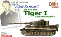 "The box-art for the '""Alfred Kurzmaul"" Tiger 1 Late Production' from Cyber Hobby"