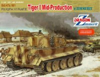 The box-art of the 'Tiger I Mid-Production w/Zimmerit'