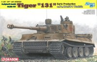 "The box-art for the 'Tiger ""131"" Early Production, s.Pz.Abt.504 Tunisia' from Dragon"