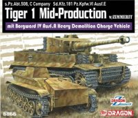 The box-art of the 'Tiger 1 Mid-Production mit Borgward'