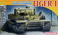 The box-art for the 'Gruppe Fehrmann Tiger I' from Dragon