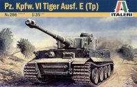 The box-art for the 'Tiger Ausf. E (tp)' from Italeri