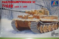 The box-art for the 'Tiger Ausf. E Late' from Italeri