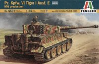 The box-art for the 'Tiger Ausf. E Mid production' from Italeri