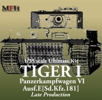 The box-art for the 'Ultimate Kit Tiger I Late Production' from Model Factory Hiro
