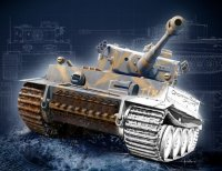 The box-art of the 'Tiger I Ausf.E 75th Anniversary'