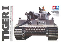 The box-art for the 'Tiger 1 Early Production' from Tamiya