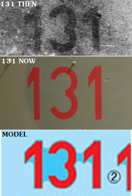 Turret numbers on Tiger 131