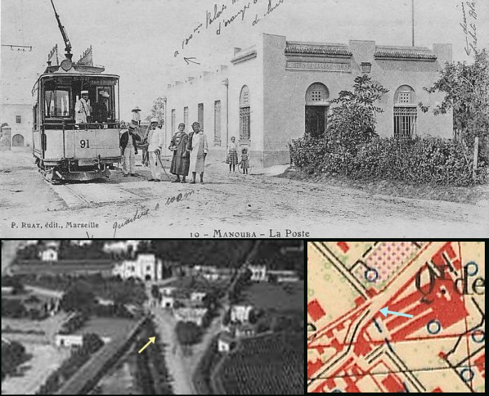 Manouba tram terminus in the early 20th century
